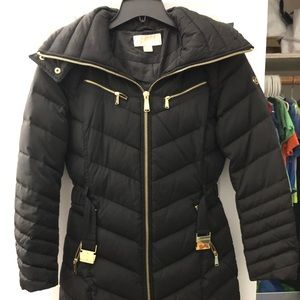 NWOT Size S Michael Kors Belted Puffer coat